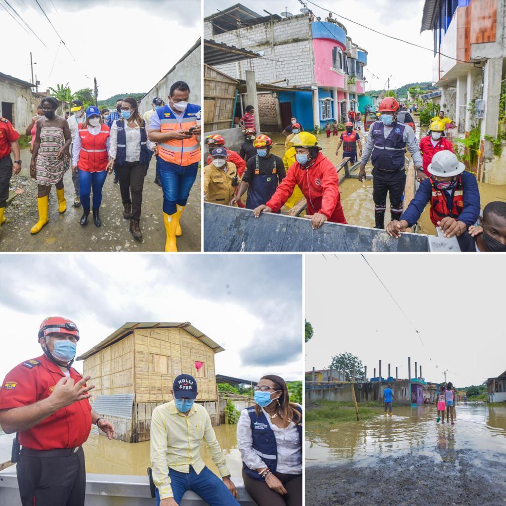 GOBERNADORA COORDINA ATENCIÓN A FAMILIAS AFECTADAS POR INUNDACIONES